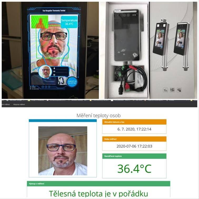 Bezkontaktní měření tělesné teploty při vstupu doobjektu Face scanner